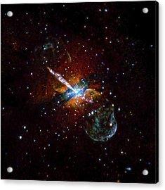Centaurus A Acrylic Print by Nasa/cxc/u.birmingham/m.burke Et Al