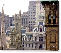 Center City Philadelphia Acrylic Print by Cynthia Harvey