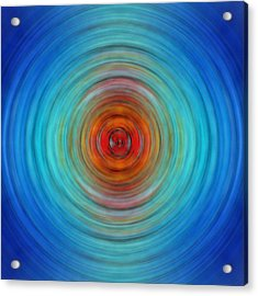 Center Point - Abstract Art By Sharon Cummings Acrylic Print