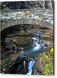 Central Cascade Acrylic Print by Frozen in Time Fine Art Photography