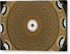 Central Dome, The City Hall, Opened Acrylic Print by Panoramic Images