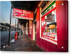 Central Grocery And Deli In New Orleans Acrylic Print by Andy Crawford