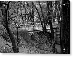 Central Park 2 Black And White Acrylic Print