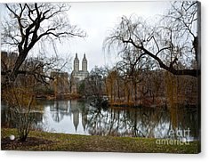 Central Park And San Remo Building In The Background Acrylic Print