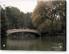 Central Park Bow Bridge Acrylic Print by David Bearden