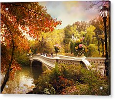 Central Park Crossing Acrylic Print by Jessica Jenney