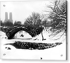 Central Park Duck Pond Acrylic Print by Underwood Archives