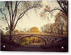 Central Park In Autumn Acrylic Print by Irene Suchocki