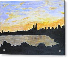 Central Park In Newyork Acrylic Print by Sonali Gangane