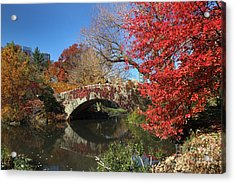 Central Park In The Fall-1 Acrylic Print