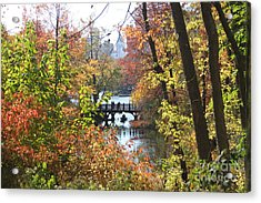 Central Park In The Fall-2 Acrylic Print