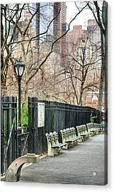 Central Park Acrylic Print by JC Findley