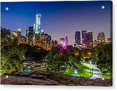Central Park Late At Night Acrylic Print