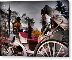 Central Park New York - Romantic Carriage Ride 2 Acrylic Print by Miriam Danar