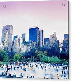 New York In Motion Acrylic Print by Shaun Higson