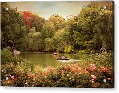Central Park Rowers Acrylic Print by Jessica Jenney