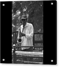 Central Park Sax Acrylic Print
