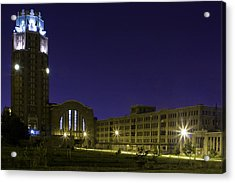 Acrylic Print featuring the photograph Central Terminal At Night  by Don Nieman