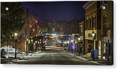 Acrylic Print featuring the pyrography Centre Street by David Hufstader
