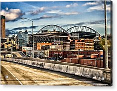 Century Link Field Seattle Washington Acrylic Print by Michael Rogers