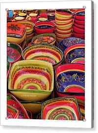 Ceramic Bowls Acrylic Print by Anthony Dalton