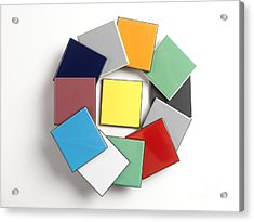 Ceramic Colour Standards Acrylic Print by Andrew Brookes, National Physical Laboratory