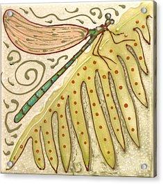 Ceramic Dragonfly Acrylic Print