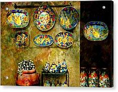Ceramica Italiana Acrylic Print by Diana Angstadt