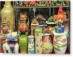Ceramics At Storefront Near Nanfeng Acrylic Print by Stuart Westmorland