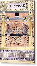 Ceramics Designs For Tiled Wall Acrylic Print