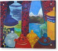 Ceramics View 1 Acrylic Print by Karen Coggeshall