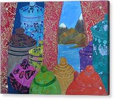 Ceramics View 2 Acrylic Print by Karen Coggeshall