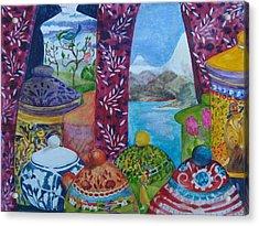 Ceramics View 3 Acrylic Print by Karen Coggeshall