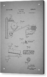 Cereal Food Machine Patent 1944 Acrylic Print by Mountain Dreams
