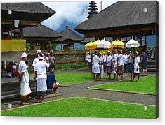Ceremony Gathering At Beratan Bali Acrylic Print