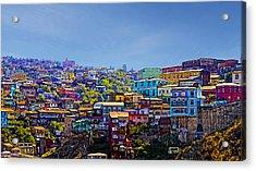 Cerro Artilleria Valparaiso Chile Acrylic Print