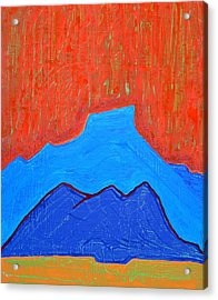 Cerro Pedernal Original Painting Sold Acrylic Print by Sol Luckman