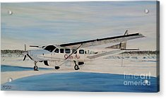 Acrylic Print featuring the painting Cessna 208 Caravan by Marilyn  McNish
