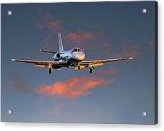 Cessna Citation Acrylic Print by James David Phenicie