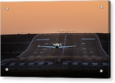 Cessna Citation On Short Final Acrylic Print by James David Phenicie