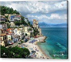 Cetara. Amalfi Coast Acrylic Print by Jennie Breeze