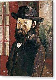 Cezanne, Paul 1839-1906. Self-portrait Acrylic Print by Everett