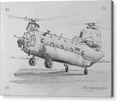 Ch 47 Chinook Helicopter Acrylic Print by Jim Hubbard