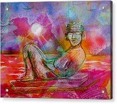 Chacmool Of Tulum Acrylic Print
