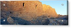 Chaco Canyon Indian Ruins, Sunset, New Acrylic Print