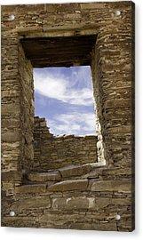 Chaco Sky Acrylic Print by Jeanne Hoadley