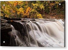 Chagrin River Falls Acrylic Print by Joshua Clark