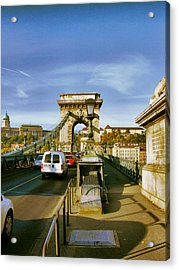 Chain Bridge-1 Acrylic Print by Janos Kovac