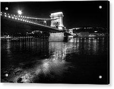 Chain Bridge Danube River Acrylic Print