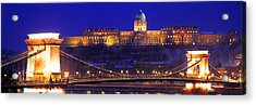 Chain Bridge, Royal Palace, Budapest Acrylic Print by Panoramic Images